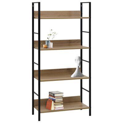 vidaXL 4-Layer Book Shelf Oak 60x27.6x124.5 cm Chipboard
