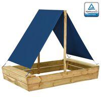 vidaXL Sandpit with Roof 160x100x133 cm Impregnated Pinewood