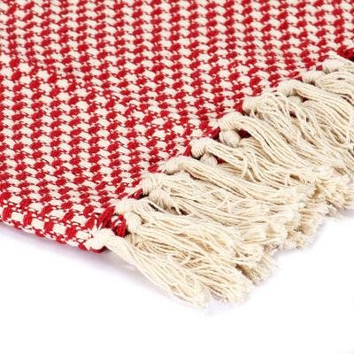 vidaXL Throw Cotton 220x250 cm Red