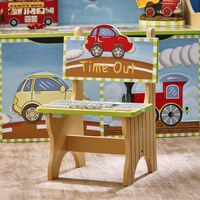 Fantasy Fields Childrens Transportation Kids Wooden Time Out Chair Boy