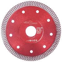 vidaXL Diamond Cutting Disc with Holes Steel 125 mm
