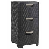 Curver Style Drawer Cabinet 42 L Brown 240636