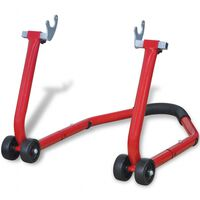 vidaXL Motorcycle Rear Stand Red