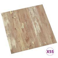 vidaXL Self-adhesive Flooring Planks 55 pcs PVC 5.11 m² Brown