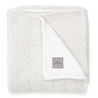 Jollein Blanket River Knit 100x150 cm Fleece Cream White