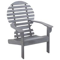 vidaXL Adirondack Chair Solid Acacia Wood Grey