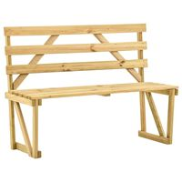 vidaXL Garden Bench 120 cm Impregnated Pinewood