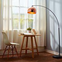 Curved Arquer Floor Lamp Copper Shade by Versanora Modern Lighting VN-