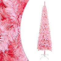 vidaXL Slim Christmas Tree Pink 120 cm