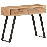 vidaXL Console Table 100x35x76 cm Solid Acacia Wood with Live Edges