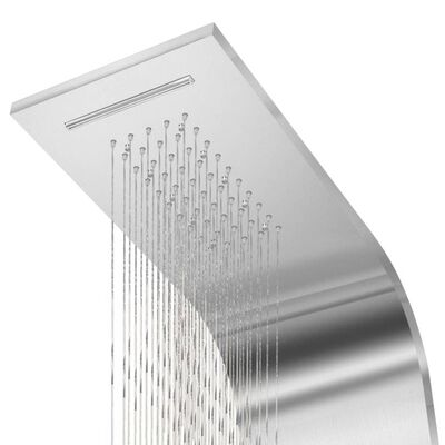 vidaXL Shower Panel System Stainless Steel Curved