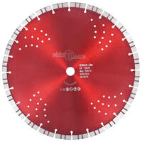 vidaXL Diamond Cutting Disc with Turbo and Holes Steel 350 mm