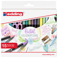edding 15 Piece Pastel Pen Set