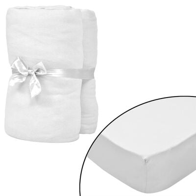 vidaXL Fitted Sheets for Cots 4 pcs Cotton Jersey 70x140 cm White