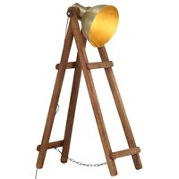 vidaXL Floor Lamp Brass E27 Solid Mango Wood