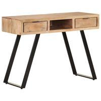 vidaXL Desk 110x50x75 cm Solid Acacia Wood with Live Edges