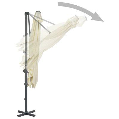 vidaXL Cantilever Umbrella with Aluminium Pole 250x250 cm Sand