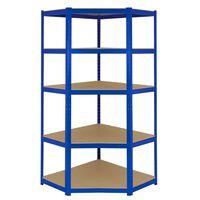 Monster Racking T-Rax Corner Storage Shelf Unit Blue 90cm