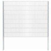 vidaXL 2D Gabion Fence Galvanised Steel 2.008x1.63 m 6 m (Total Length) Silver