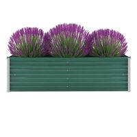 vidaXL Garden Raised Bed Galvanised Steel 160x40x45 cm Green
