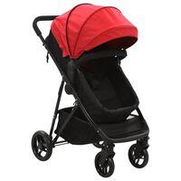 10159 vidaXL 2-in-1 Baby Stroller/Pram Red and Black Steel