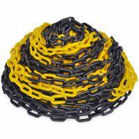 30 m Plastic Warning Chain Yellow and Black