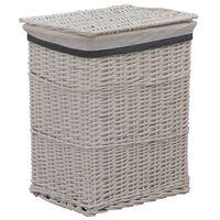 vidaXL Stackable Laundry Basket White Willow