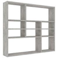 vidaXL Wall Shelf Concrete Grey 90x16x78 cm Chipboard