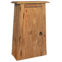vidaXL Bathroom Wall Cabinet Solid Recycled Pinewood 42x23x70 cm