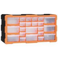 vidaXL Multi-drawer Organiser with 22 Drawers 49x16x25.5 cm