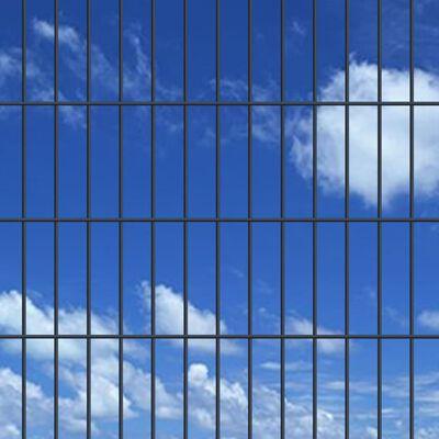 vidaXL 2D Garden Fence Panels & Posts 2008x830 mm 12 m Grey