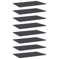 vidaXL Bookshelf Boards 8 pcs Grey 80x50x1.5 cm Chipboard