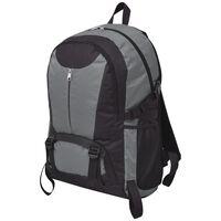 vidaXL Hiking Backpack 40 L Black and Grey