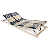 vidaXL Slatted Bed Base with 42 Slats 7 Zones 80x200 cm