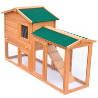 vidaXL Outdoor Large Rabbit Hutch Small Animal House Pet Cage Wood