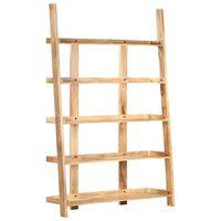 vidaXL 5-Tier Bookshelf 120x37x180 cm Solid Mango Wood