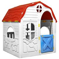 vidaXL Kids Foldable Playhouse with Working Door and Windows