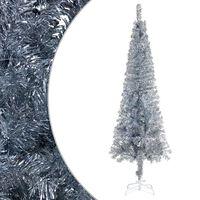 vidaXL Slim Christmas Tree Silver 210 cm