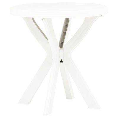 vidaXL Bistro Table White Ø70 cm Plastic