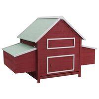 vidaXL Chicken Coop Red 157x97x110 cm Wood