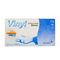 MediRite Vinyl Powder Free Clear Large Disposable Gloves - 1 x 100