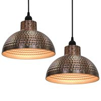 vidaXL Ceiling Lamps 2 pcs Semi-spherical Copper Colour
