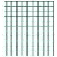 vidaXL 2D Garden Fence Panels 2.008x2.23 m 28 m (Total Length) Green