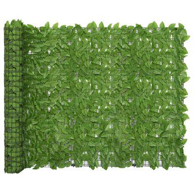 vidaXL Balcony Screen with Green Leaves 300x150 cm