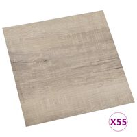 vidaXL Self-adhesive Flooring Planks 55 pcs PVC 5.11 m² Taupe