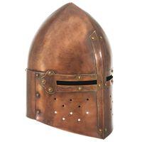 vidaXL Medieval Knight Helmet Antique Replica LARP Copper Steel