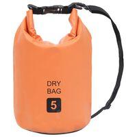 vidaXL Dry Bag Orange 5 L PVC