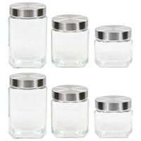 vidaXL Storage Jars with Sliver Lid 6 pcs 800/1200/1700 ml