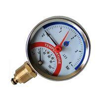 80mm 0-120C 0-2,5 Bar Side Entry Pressure Gauge 1/2 Inch