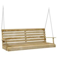 vidaXL Swing Bench Impregnated Pinewood 155x65x60 cm